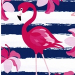 LUKE Jersey Flamingo groß blau pink