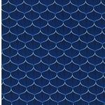 FRANZISKA Webstoff Ginkgoblätter blau
