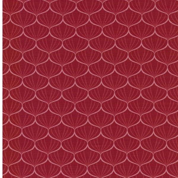 FRANZISKA Webstoff Ginkgoblätter rot