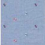 WATERPAS Popeline Streifen Libellen blau