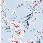 CARMINA Viskosechiffon Blüten zartblau