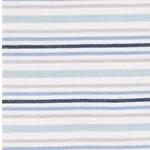 ADELIO Double-Gauze Streifen blau grau