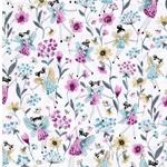 ADELITA Popeline Feen Blüten lila petrol