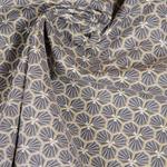 RIAD Wachstuch grafisches Muster graubra