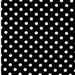 VERENA Jersey Dots schwarz weiß