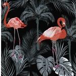 LUKE Jersey Flamingo schwarz koralle