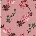 ROSE Viskosejersey Blütenzweige puderros