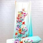 LITZY Viskosejersey Panel 1m Blüten