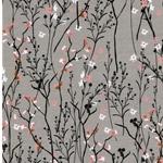 MATTI Jersey Blütenzweige grau