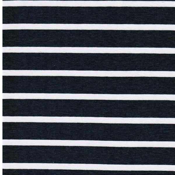 BENJA Viskosejersey Streifen jeans weiß