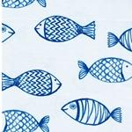 HARBOUR FISH Jersey große Fische blau