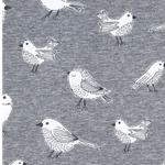 MINI BABY Jersey Vögel grau meliert