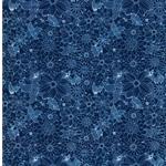 SIGRID Webware Blumen dunkelblau