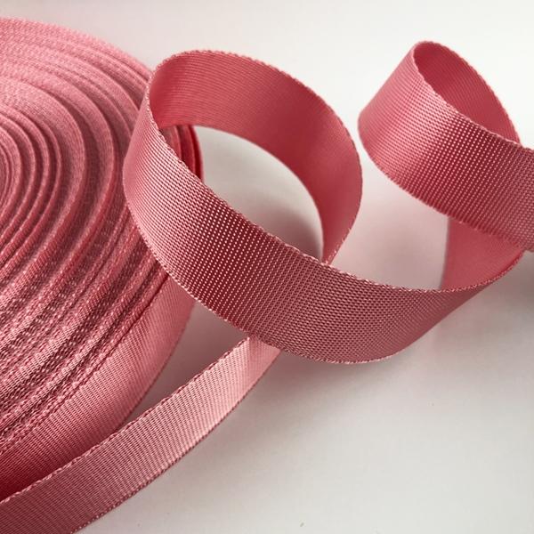 Gurtband Polyester 25 mm glänzend rosa