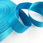 Gurtband Polyester 25 mm glänzend türkis