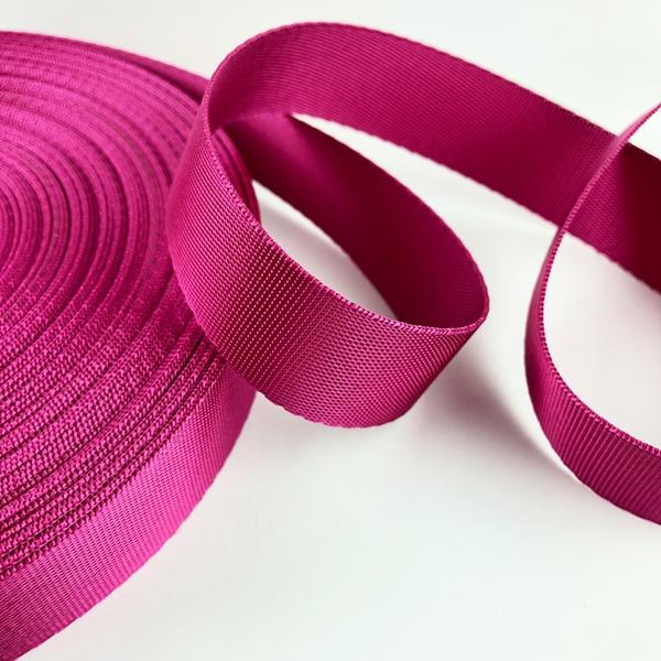 Gurtband Polyester 25 mm glänzend pink