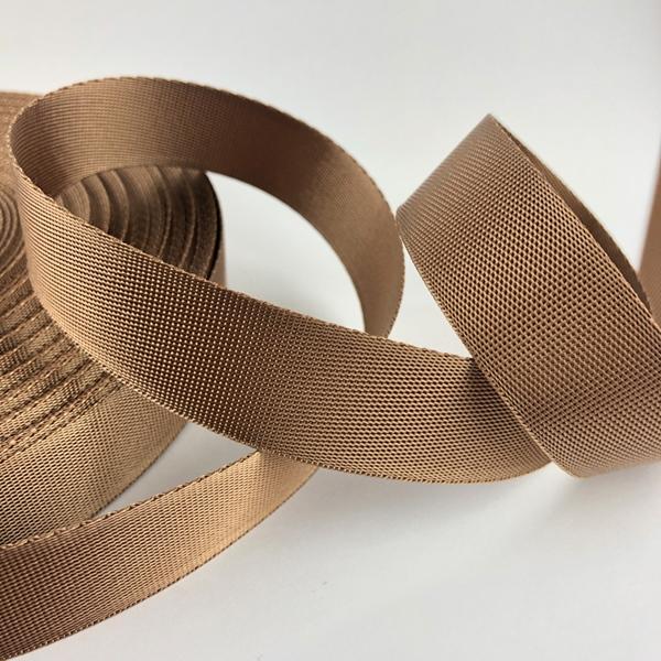 Gurtband Polyester 25 mm glänzend bronze