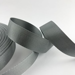 Gurtband Polyester 25 mm glänzend grau
