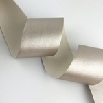 Lederimitatband 35 mm metallic silber