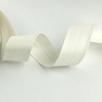 Schrägband breit metallic weiß