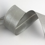 Schrägband breit metallic silber