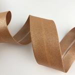 Schrägband breit mettalic kupfer