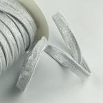 Paspel elastisch Glitzer silber weiß