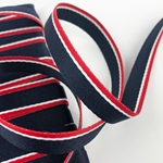 Webband Marine gestreift 10 mm  navy