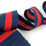 Ripsband gestreift 35 mm navy, rot