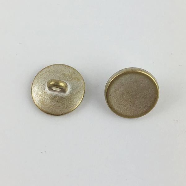 Metallknopf mit Öse 10 mm goldsilber