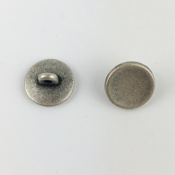 Metallknopf mit Öse 10 mm grausilber