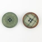 Polyesterknopf 20 mm 4-Loch Karo grün
