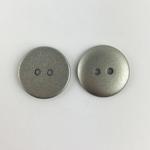 Polyesterknopf 18 mm 2-Loch silber