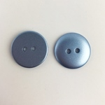 Polyesterknopf 12 mm 2-Loch metallicblau