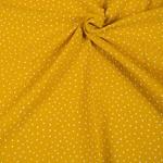 Double Gauze Dots Musselin mango weiß