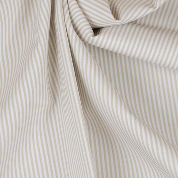 FLORENCIA Popeline ORGANIC Streifen beig