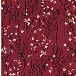 MATTI Jersey Blütenzweige bordeaux