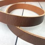 Lederriemen Antik 4mm rotbra 2,5cm breit
