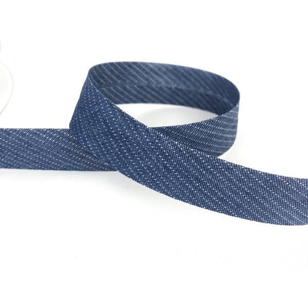 Chambrayschrägband Streifen jeansblau