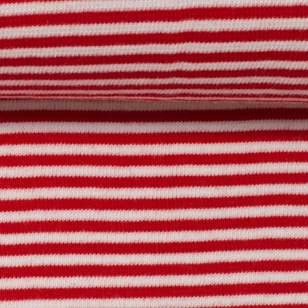 ANDY Ringelbündchen 420g/m² rot weiß