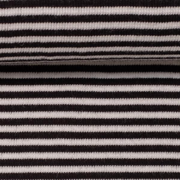 ANDY Ringelbündchen 420g/m² schwarz weiß