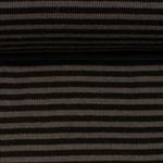 ANDY Ringelbündchen 420g/m² schwarz grau
