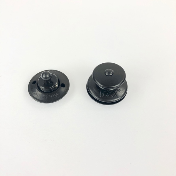 LOXX® Druckknopf messing schwarz + Werkz
