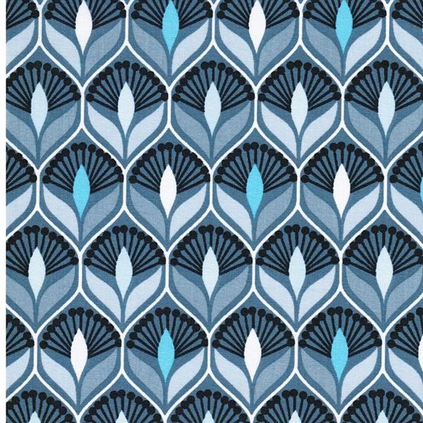 Swafing LEONA Wachstuch Blüten blau