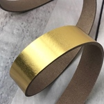 Lederriemen 2,5mm metallic gold