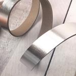 Lederriemen 2,5mm metallic silber