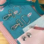 Nähpaket Yello Bag Streifen rosa petrol