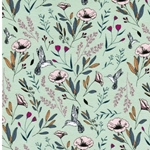 MAGIC FAUNA WATERFALL Jersey Blumen mint