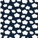 MINICLOUDS Jersey jeansblau weiß