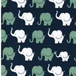 ELEPHANT PARADE Jersey jeansblau mintgrü